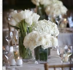 White Flower Centerpieces Wedding Preparation White Wedding Flower Centerpieces