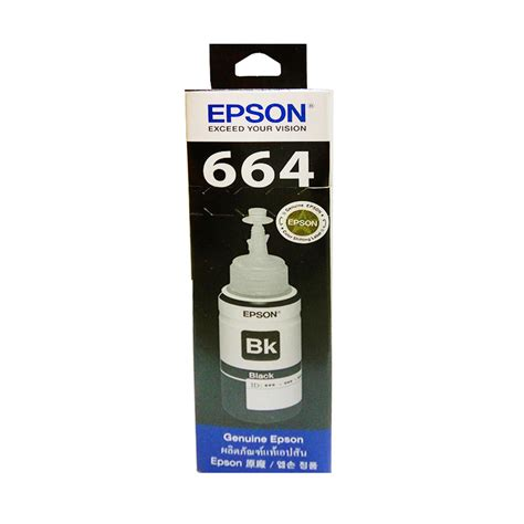 Tinta Warna Printer Epson jual epson t6641 tinta printer hitam harga