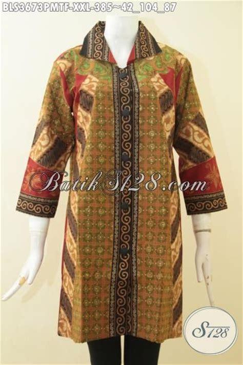 Pakaian Ukuran Jumbo Produk Pakaian Batik Wanita Premium Model Terkini Blus