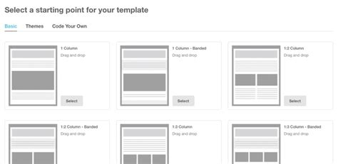 mailchimp layout exles tutorial for creating a custom email template in mailchimp