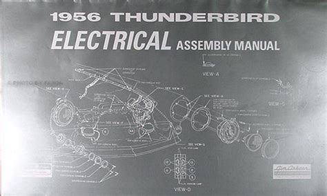 1956 ford thunderbird electrical assembly manual reprint