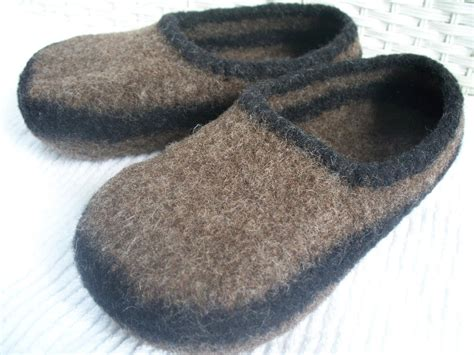 woolen slippers felted wool slippers wool slippers brown wool slippers