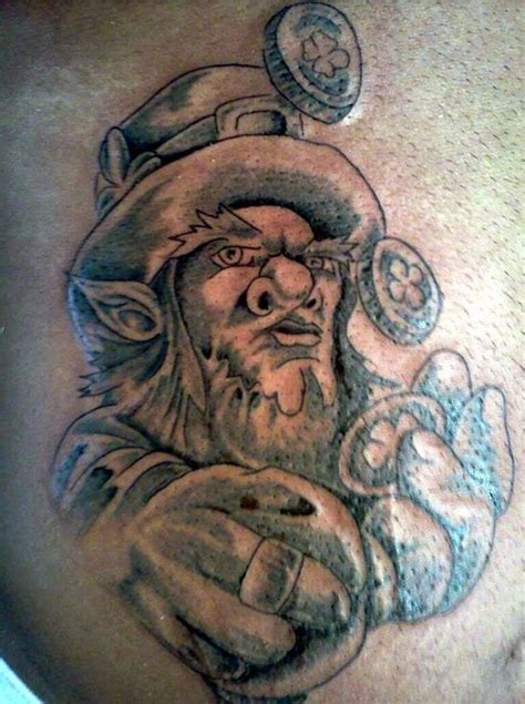 23 good luck irish leprechaun tattoos