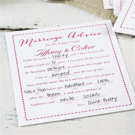 Wedding Advice by Personalized Advice Cards Marriage Advice Cards