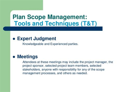 Scope After Mba In Healthcare Management by Pmbok 5th Planning Process Part One