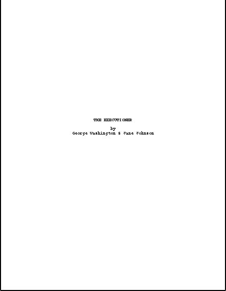 movie script format title page share 772 wsource