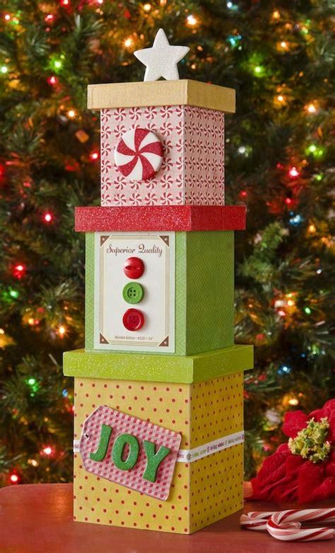 mini diy christmas tree decor from boxes mod podge rocks