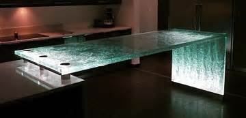 the pros cons of glass countertops