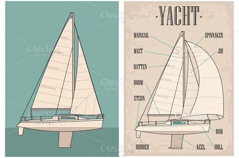 sailboat names name type sail yacht illustrations creative market