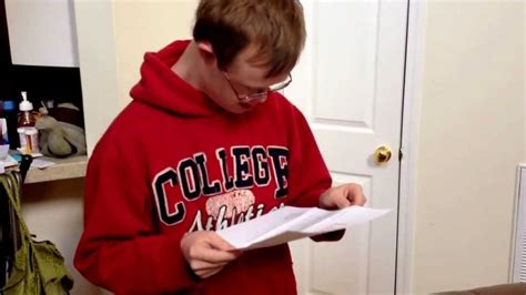 Reading College Acceptance Letter With Reacts To Receiving College Acceptance Letter Most