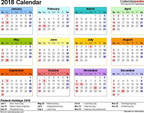 2018 2018 year calendar printable calendario pis