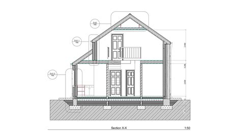section archicad building 2d section drawing professional cad contractor