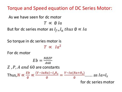 motor speed formula dc motor