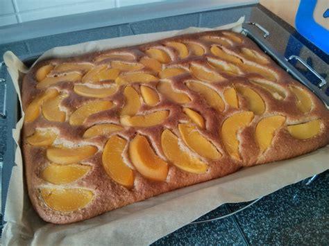 pfirsich kuchen pfirsich mandel kuchen rezept mit bild smaass1979