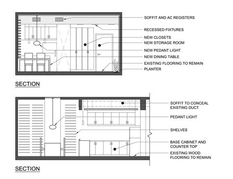 Kitchen Plan Section Elevation by Wood Dining Table Plan Elevation Section Pdf Plans