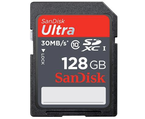 Sandisk 128gb sandisk 128gb ultra sd sdxc 30mb s class 10 uhs hd memory card ebay