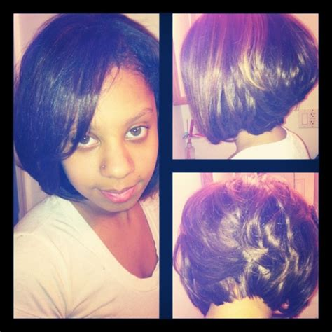 partial short weaves partial weave with bob cut hair weaving pinterest