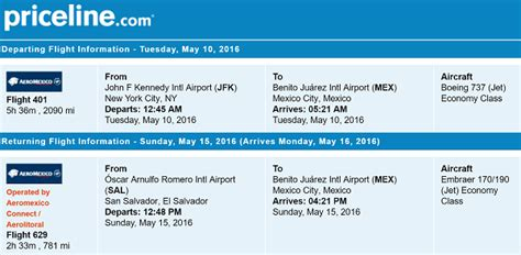 priceline trip flights new york to san salvador for only 328