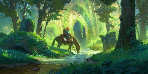 here s the concept art that inspired the robot from the the legend of zelda inspired concept art and illustrations