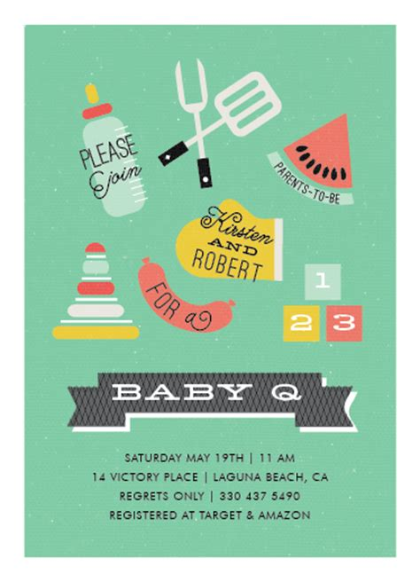 Baby Q Shower Invitations by Baby Shower Invitations Baby Q At Minted