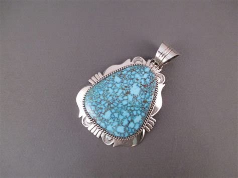 sterling silver kingman turquoise pendant by will
