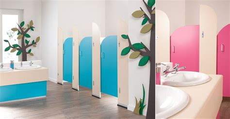 school bathroom decorating ideas sydney pre school cubicles cream panels with blueberry