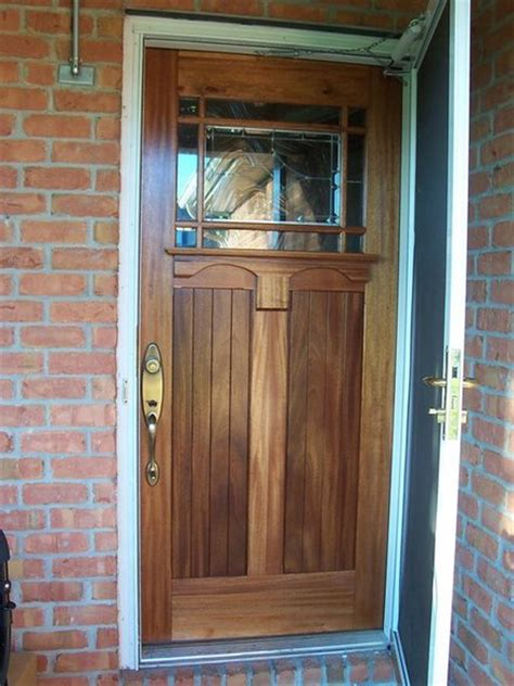 Door Styles Exterior Craftsman Style Entry Door With Cutom Stained Glass Leaded