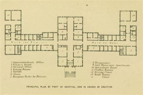 mental hospital floor plan designed to heal the connecticut general hospital for the