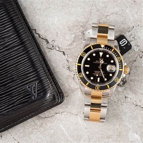 Rolex Oyster Submariner 2 rolex oyster perpetual submariner 16613 two tone