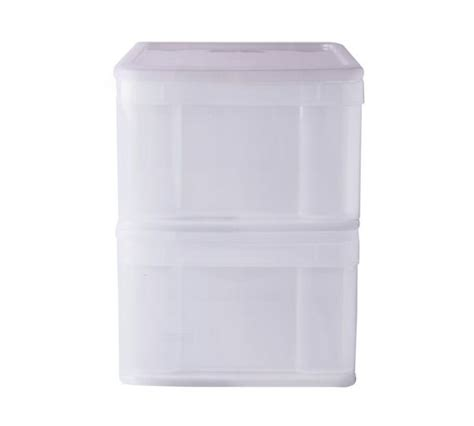 white storage drawers argos buy home set of 2 stackable plastic drawers white at