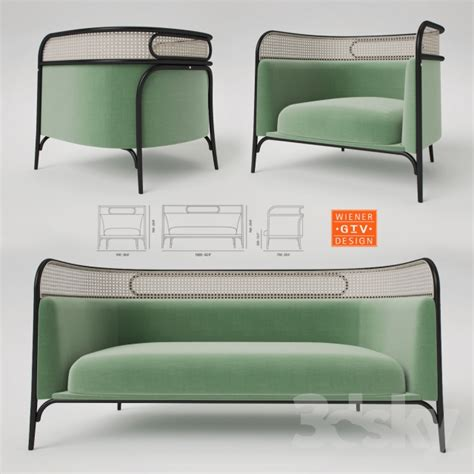 thonet couch 3d models sofa gebruder thonet vienna targa lounge and sofa