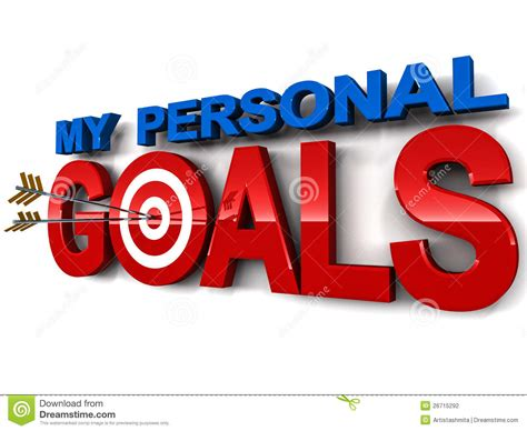 My Personal my personal goals stock illustration illustration of
