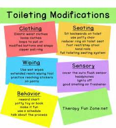 modifications for potty training therapy fun zone