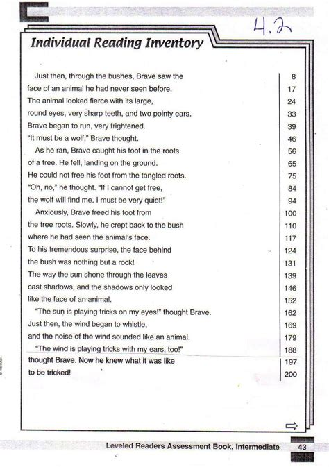 printable leveled reading fluency passages fluency passages buford academy