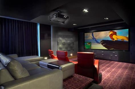 modern home theater custom home theatre candiac modern home theater
