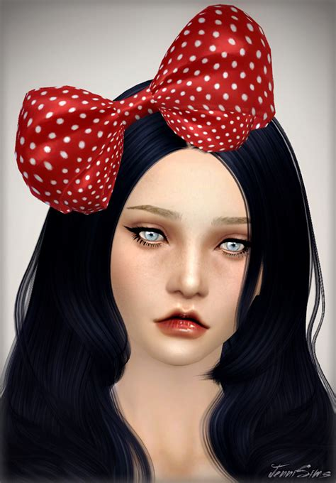 jennisims downloads sims 4 new mesh accessory bow eye jennisims downloads sims 4 accessory bow headband sims