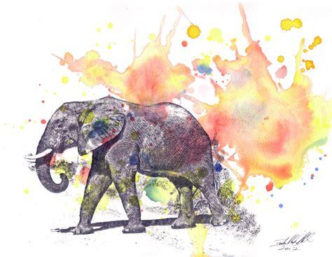 elephant animal watercolor painting original watercolor
