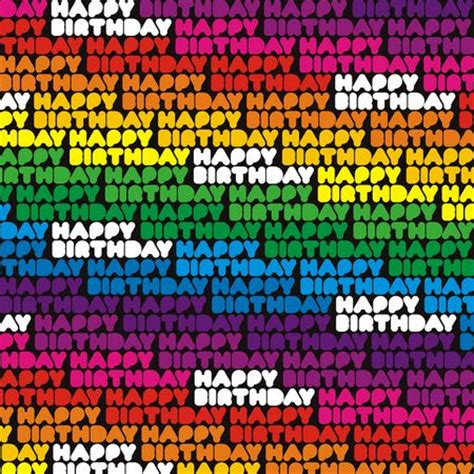 My Birthday Gift Essay by New 3 Sheets Happy Birthday Rainbow Multi Coloured Gift Wrap Wrapping Paper Ebay
