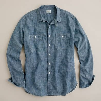 Becky Chambray Shirt Point One blue chambray shirt stephenking