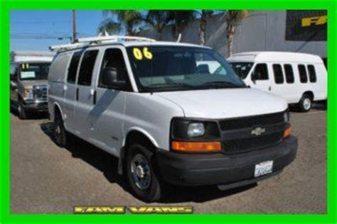 how do cars engines work 2006 chevrolet express 3500 lane departure warning sell used 2006 chevrolet express g2500 pro series work van in fountain valley california