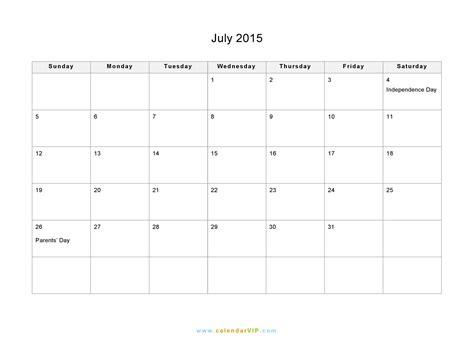 july  calendar blank printable calendar template   word excel
