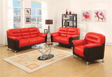 red faux leather sectional sofa asmund modern black red faux leather sofa loveseat