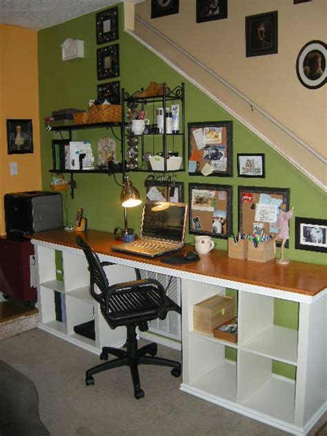 office space is carved out of the hallway between foyer