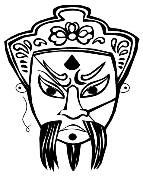 kabuki mask template free printable mask coloring pages for