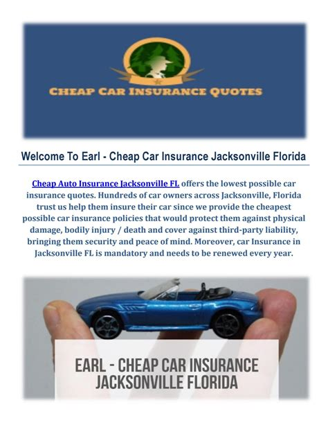 earl cheap auto insurance  jacksonville  earl