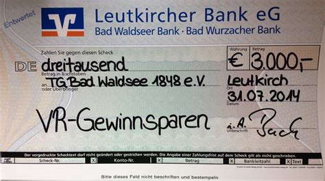 leutkircher bank bad waldsee leutkircher bank spendet 3000 tg 1848 bad waldsee e v