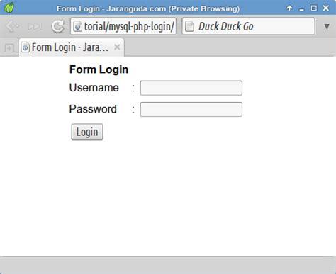 script membuat login dengan php membuat script login sederhana dengan php dan mysqli