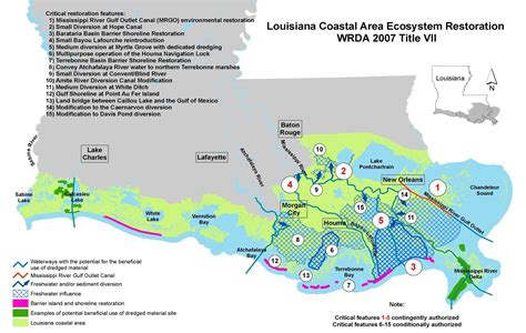 louisiana coast map new orleans district gt missions gt environmental