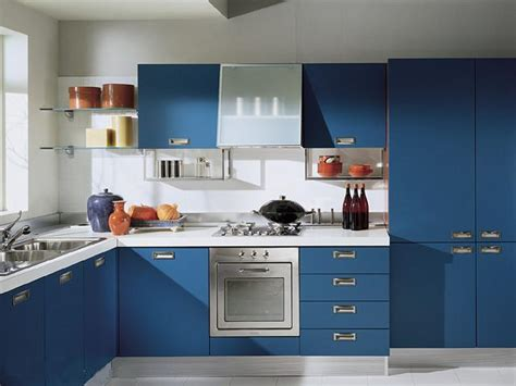 Blue Modern Kitchen Designs   Home Business and Lighting