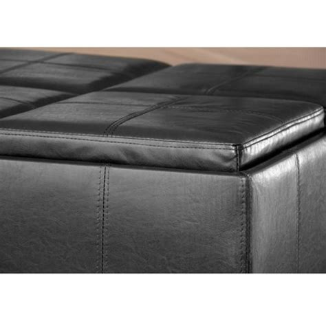 ottoman with 4 tray tops best choice products leather ottoman with 4 tray tops